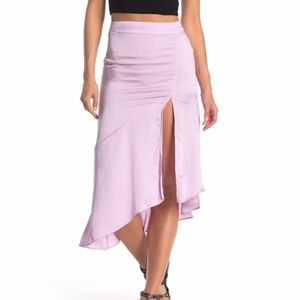 Free People Lola Asymmetrical Slit Skirt. Size: 0